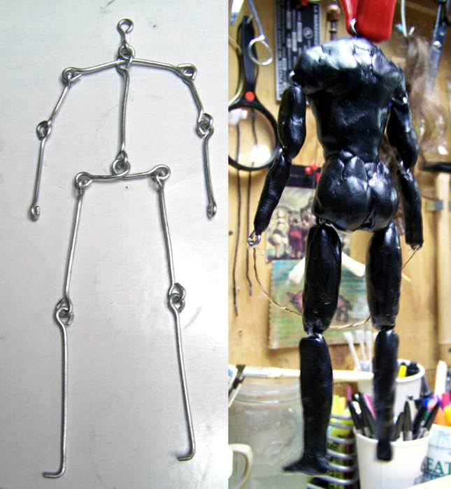 2007.01.25 wireframe skeleton of mini-me figure