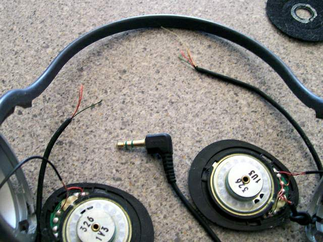 old headphones ready for new cord