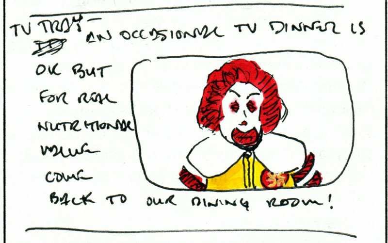 Roland McMeaty TV Tray concept sketch