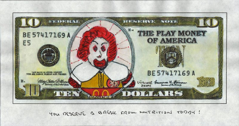 Bad Ronald - Ten McMeatie Dollars