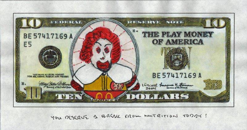 Bad Ronald - Ten McMeatie Dollars