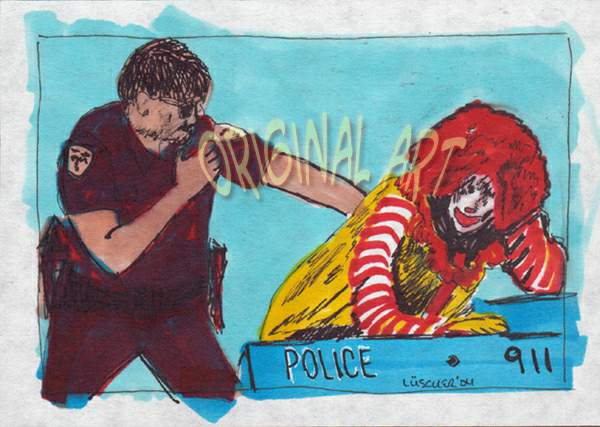 Bad Ronald being arrested