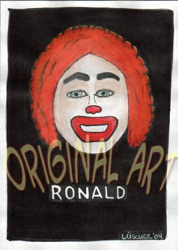 Bad Ronald political poster nsdap