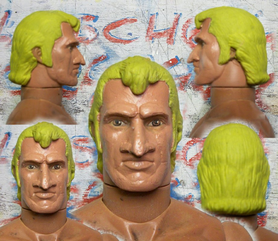 Brock Freakin' Samson - sculpted hair added to a GI Joe